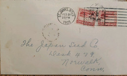 A) 1925, NEWFOUNDLAND, LANDSCAPES, FROM ST. JOHN`S TO NORWALK CONNECTICUT-UNITED STATES SOUTH WEST ARM. TRINIDAD WITH SE - Cartas