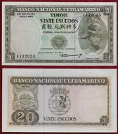 Portugal Timor 20 Escudos 1967 Pick26a Unc (NT#01) - Timor