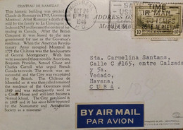 A) 1946, CANADA, GREAT BEAR LAKE, FROM MONTREAL TO HAVANNA-CARIBBEAN, AIRMAIL, WITH SLOGAN CANCELLATION SAVE USED AIR, P - Cartas