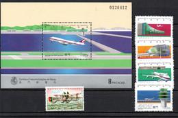 T1-13  Macao N° 426 + 786 à 789 + BF 31 **   A Saisir !!!  Avions - Blocks & Sheetlets