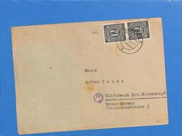 Allemagne Bizone 1946 Lettre De Bamberg (G1598) - Zona Anglo-Americana