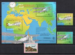 T1-13  Macao N° 944 à 945 + BF 73 + PA 18 **   A Saisir !!!  Avions - Blocks & Sheetlets
