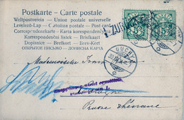 "1904 SUIZA , T.P. CIRCULADA , OUCHY - COLONIA  , MARCA DE DEVOLUCIÓN "" ZURÜCK NOCH "" - Covers & Documents"