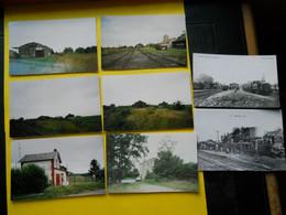 Photo ,TRAMWAY Et Gares De La SOMME  Collection Bourneuf , Lire Descriptif ,Epehy ,Roisel , - Treinen