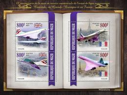 2021/03- NIGER - CONCORDE     4V   MNH *** - Avions
