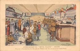 """ROUEN - AMERICAN BAR Du """"ROYAL PALACE"""" - Rue De La Savonnerie - Illustrateur Julien T'Felt - Rouen"""