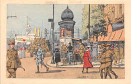 ROUEN - Temps De Guerre - Quai De La Bourse - Illustrateur Julien T'Felt - Rouen