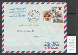 Reunion - Lettre  SAINT DENIS -1957 - Storia Postale
