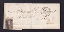 DDZ 094 - Lettre TP Médaillon (BdF) Barres 62 HUY 1863 Vers ENGIS (TB Cachet Arrivée) - Avec Contenu - 1858-1862 Medallions (9/12)