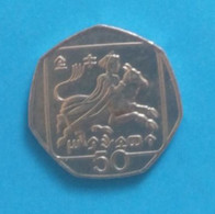 0,50 Pfund Coin, Used From Cyprus, Year 1996 - Cyprus