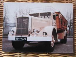 Carte  Camion Fondation BERLIET Type GDM De 1934 - Camion, Tir