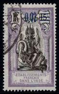 Colonie Française - Inde  - 1922 -  Type De 1914 Surch  - N° 57  - Oblit - Used - Usati