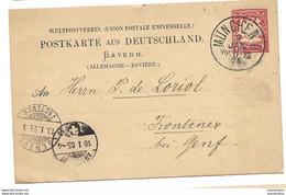 126 - 49 - Entier Postal Envoyé De München En Suisse 1885 - Stamped Stationery