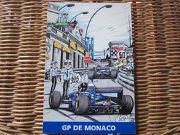 Carte Humoristique Automobile GP De Monaco - Autobus & Pullman