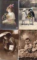 DC5678 - Ak Schöne Motivkarten Lot 4 Karten Ostern Kinder Cpa Pâques, Enfants, Beaux Motifs - Neujahr