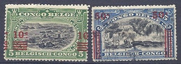 210038904  CONGO BELGA.  YVERT  Nº  86/90  USED/MH (WITHOUT GUM) - 1894-1923 Mols: Neufs