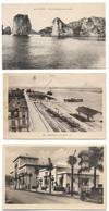 LOT DE 8 CARTES POSTALES DU MONDE : TONKIN - BIZERTE - PHILIPPEVILE - MARTINIQUE CHICAGO - ADEN CONSTANTINE - 5 - 99 Postcards