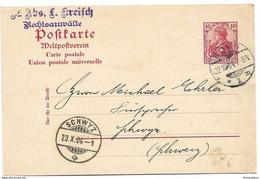126 - 66 - Entier Posal Envoyé De Bonn En Suisse 1904 - Stamped Stationery
