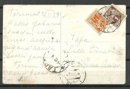 Estland Estonia 1924 O LOODI Domestic Post Card Michel 32 - 33 A Land Scape - Estonia