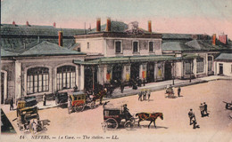 Nevers (58) La Gare  CPA  Circulée 1923 - Nevers