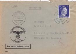 24247# HITLER LETTRE CHEF DES ZIVILVERWALTUNG + CENSURE ALLEMANDE Obl LUXEMBOURG 1944 NANCY MEURTHE MOSELLE - 1940-1944 German Occupation