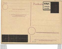 126 - 82 - Entier Postal Noirci / Surchargé - Stamped Stationery