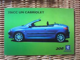 Carte Postale Automobile PEUGEOT 206 CC - Turismo