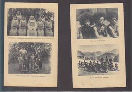 Nouvelle Guinée / Lot De 2 CPA / Indigenes De La Montagne, Kubuna, Religieuses Et Missionnaires - Papua New Guinea