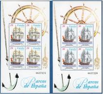 Spain 1995 Old Sailing Ships 2 Block Issues MNH 2010.2835 San Juan Nepomuceno & San Telmo, Espana - 1991-00 Nuevos & Fijasellos