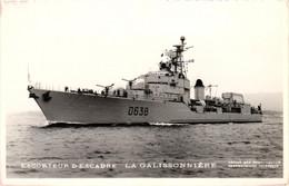 Bateau - Marius Bar Toulon - Escorteur D'escadre La Galissonnière - Guerra