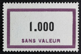 France RARE Fictif N° F139 N** Luxe Gomme D'origine, TTB. Cote 10 €. Voir Photos Recto Verso ! - Phantom