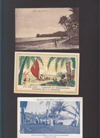 Océanie / Lot De 3 CPA / Iles Fidji, Ovalan, Arrivee Misionnaires, Lepreux De Makogai - Fiji