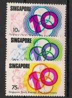 Singapore - 1976 - N°Yv. 250 à 252 - Festival De La Jeunesse - Neuf Luxe ** / MNH / Postfrisch - Singapour (1959-...)