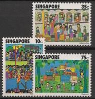 Singapore - 1977 - N°Yv. 284 à 286 - Dessins D'enfants - Neuf Luxe ** / MNH / Postfrisch - Singapour (1959-...)