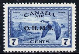 Canada 1949 Official 7c Canada Geese Overprinted 'OHMS' U/m SG O171 - Nuevos
