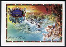 Cayes Of Belize 1985 The Comet (Shipwrecks) $5 U/m Imperf M/sheet - Belize (1973-...)
