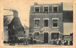 "¤¤   -   PENESTIN   -  Hôtel Du Commerce  "" G. LESPERT ""  -  Attelage De Boeufs    -   ¤¤ - Pénestin"