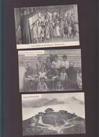 Océanie / Lot De 3 CPA / Nouvelle Guinée, Chanteurs, Neophytes, Catholic Mission - Papua New Guinea