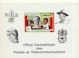 Central African Republic 1971 UNESCO Deluxe Proof Card (as SG 267) Scouts-Baden Powell Diana Anti Malaria - Centrafricaine (République)