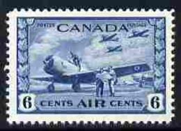 Canada 1942-48 KG6 War Effort 6c Blue U/m SG 399 - Nuevos
