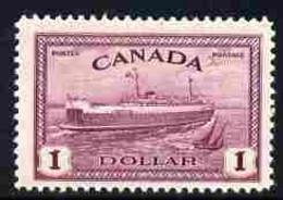 Canada 1946-47 KG6 Peace $1 Train Ferry U/m SG 406 - Nuevos