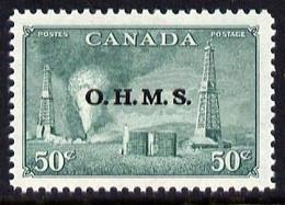 Canada 1950-52 Official 50c Oilwells Opt'd 'OHMS' U/m, SG O177 - Nuevos