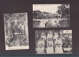 Océanie / Lot De 3 CPA / Nouvelle Guinée, Soeurs Indigenes, Missionnaire, Yule Island - Papua New Guinea