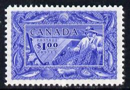 Canada 1951 Fisherman $1 Ultramarine U/m, SG 433 - Nuevos