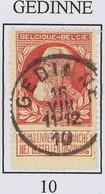 """Overgangstempel Van Het Type T1R  """" GEDINNE 10 """"   Mooi Centraal Gestempeld - 1905 Barba Grossa"""