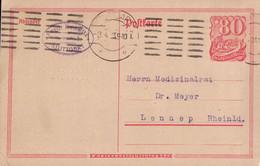 Postkarte Deutsches Reich 80 Pfennig (+ Papierpreiszuschlag 5 Pf.), Ganzsache, 1923. - Stamped Stationery