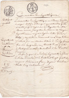 24261# CONSERVATION DES HYPOTHEQUES BUREAU DE SEDAN ARDENNES 1824 MAISON A PUILLY DEUX VILLES - Seals Of Generality