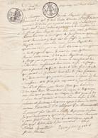 24262# DOCUMENT NOTARIE 1818 CONCERNE UNE MAISON A PUILLY ARDENNES + HABITANTS IZEL CANTON FLORENVILLE BELGIQUE - Seals Of Generality