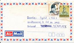 Thailand Air Mail Cover Sent To Denmark - Thailand