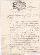 24264# GENERALITE LORRAINE ET BARROIS UN SOL 10 DENIERS VIGNES A VILLERS LES NANCY 1739 MEURTHE ET MOSELLE BAR MEUSE - Seals Of Generality
